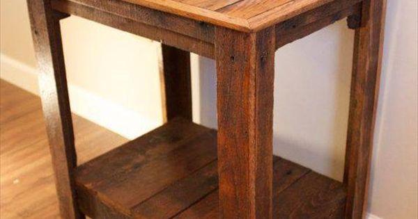 Pallet Wood Side Tables  Pallet Furniture DIY  Upcycle  Pinterest  커피 ...