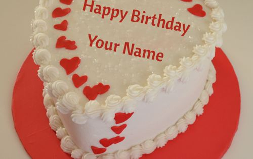 Birthday Cake Images With Name Khushbu : Happy Birthday White Chocolate Cake With Name.Huge Bday ...