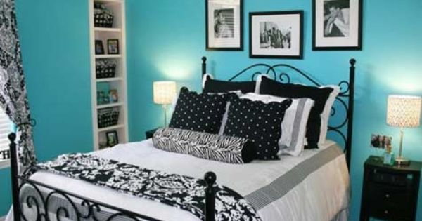 Black And White Bedroom Ideas For Teens | blue bedroom with black