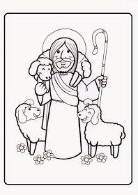 El Rincon De Las Melli Dibujo Yo Soy El Buen Pastor Para Los Mas Chiquitos El Buen Pastor Jesus Buen Pastor Educacion Religiosa
