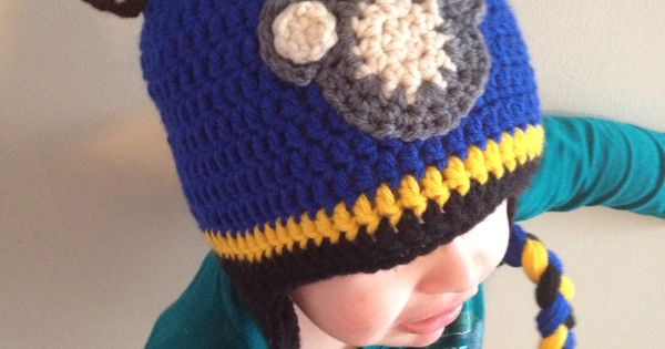 Chase Paw Patrol Crochet Hat - Paw pattern from Repeat ...