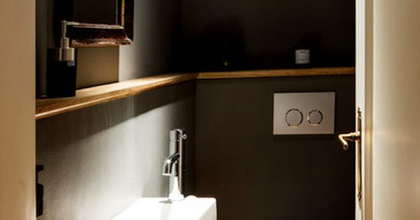 Wandfarbe g ste wc toilette pinterest viers - Wc deco ontwerp idee ...