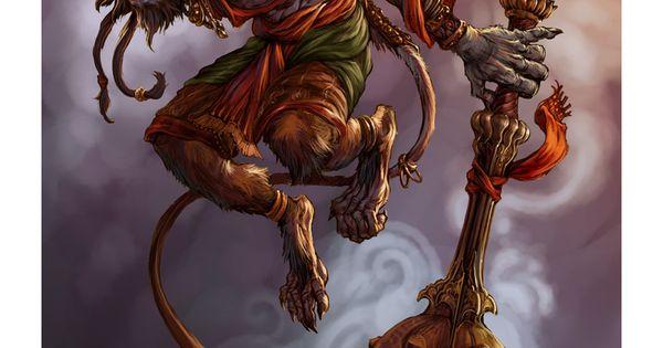 Character Design Hanuman : Hanuman picture d fantasy character warrior creature