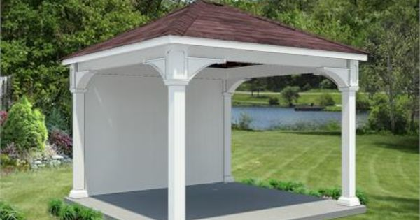 12 X 12 Vinyl Ramada Backyard Pavilion Pool Gazebo Swimming Pools Backyard