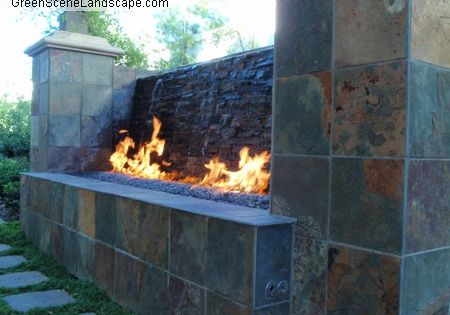 Custom Fire And Water Feature Fire Features Pinterest
