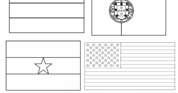 FIFA World Cup Brasil 2014 Flags 3 Coloring Pages For