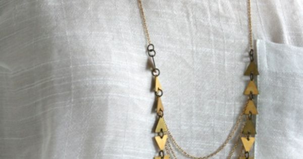 Chain necklaces via Laura Lombardi.