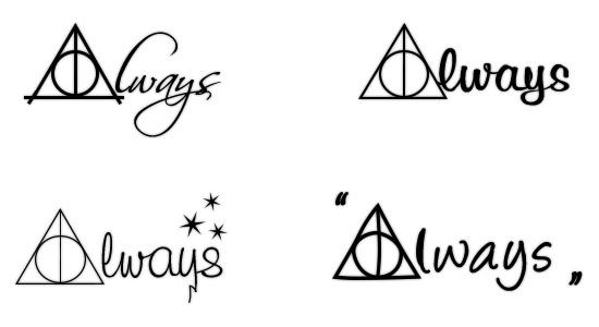 Harry Potter Always Tattoos In 2020 Harry Potter Symbols Harry Potter Tattoos Always Harry Potter