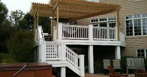 Pergola added to existing deck - Pergola Added To Existing Deck - DIY Pinterest - Decks, Zoeken