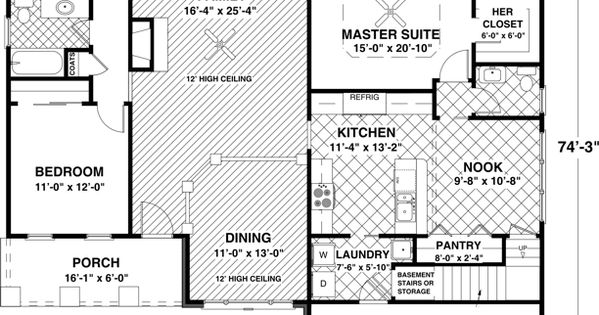 Craftsman floor plan mid sized but very efficient use of space double bonus rooms upstairs - House plans with bonus rooms upstairs ...