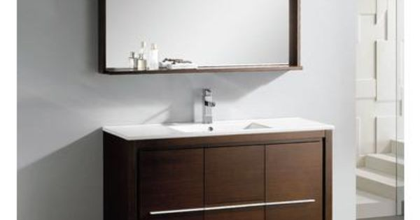 modern bathroom vanity with mirror fvn8148wg home depot canada