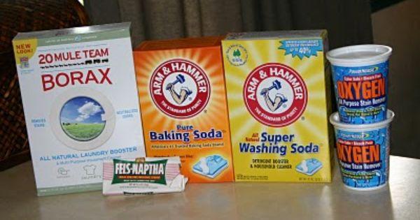Lots of homemade soap recipes including laundry detergent (Borax, baking soda, washing