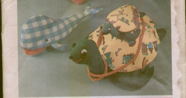 Simplicity 5331 Vintage 1970s Large Stuffed Animal Pillow