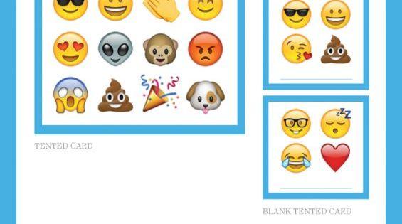 Free Emoji Party Printables Including Invitations Cupcake