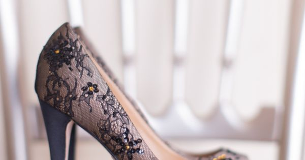 black and mauve wedding shoes | Photo by Heather Cook Elliott Photography | See more about Badgley Mischka, Wedding Shoes and Wedding Ideas.