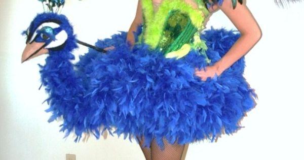 DIY Peacock costume - 2012 Halloween Costume Contest