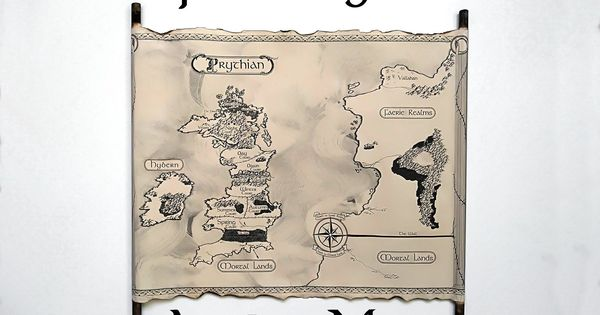 Prythian Map Handmade Scroll Acotar Map A Court Of Thorns And