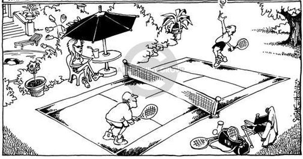 The Tennis Court Comics And Cartoons The Cartoonist Group
