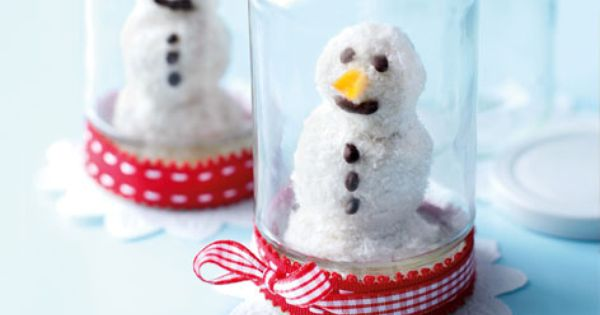 Coconut and chocolate snowmen | Recipe | Snowman, Coconut and ...