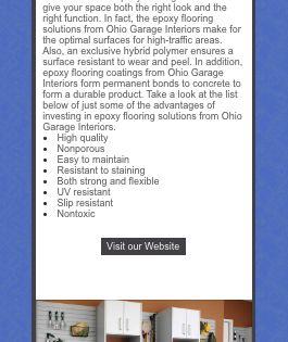 Epoxy Flooring Ohio Garage Interiors Epoxy Floor Garage Interior Flooring