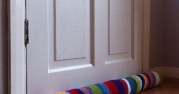 Door draft stopper crochet pinterest door draft for Front door draft stopper