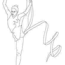 Ribbon Individual All Around Rhythmic Gymnastics Coloring Page Coloring Page Sports Coloring Pages Coloring Pages Coloring Pages For Girls