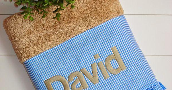 Frambuesa happy toallas personalizadas un ba o ideal for Perchas toallas bano