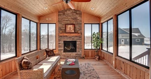 Sunrooms With Fireplaces Fireplace In Screen Porch