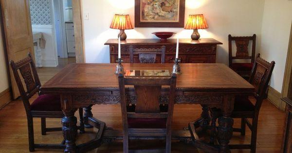 Vintage 1930s Jamestown Furniture Company Feudal Oak
