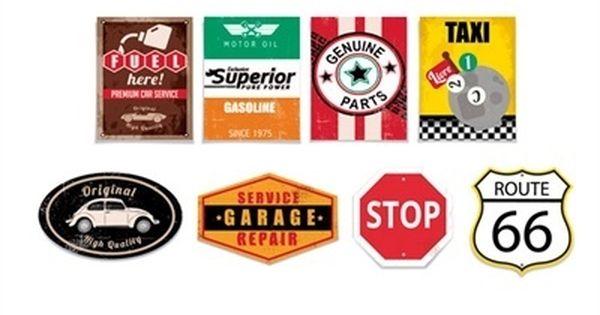 Kit cartaz para decora o garage route 66 8 cromus hot for Garage route 66 metz