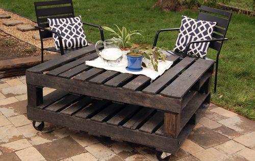 DIY Pallet Project - Outdoor Table Using pallets to make a table