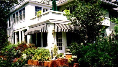 I Ve Always Liked Striped Awnings House Awnings House Exterior Outdoor Awnings