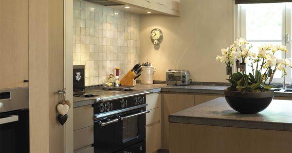 Modern landelijke keuken combineert gezelligheid met eigentijdse stijl - Keuken Muurbekleding Keuken Pinterest Keuken