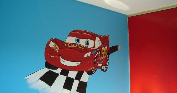 Cars Slaapkamer Decoratie : Cars. #muurschildering #decoratie # ...