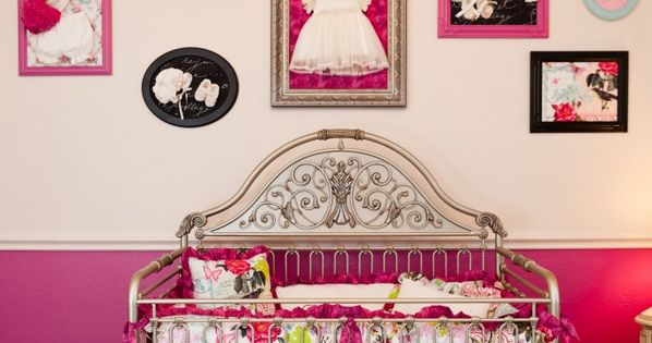 Love love love the crib! 'Frame' your favorite baby outfits... I might