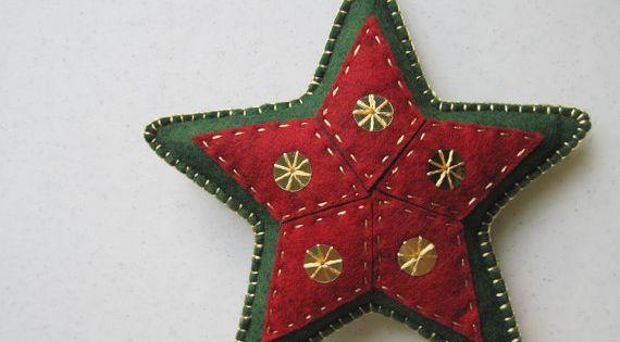 Fieltro ornamentos de navidad and estrellas on pinterest - Ornamentos de navidad ...