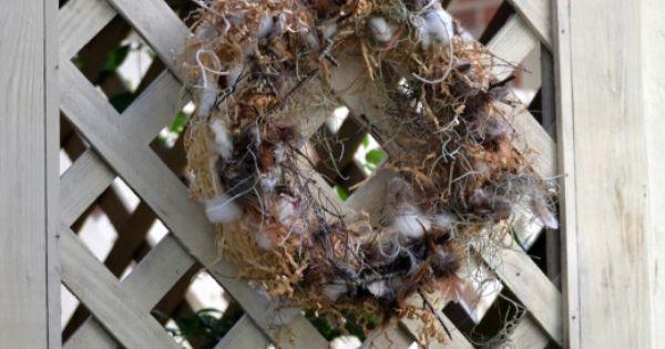 How To Make A Wreath Using Bird Nesting Materials Bird Nesting Material Wreaths Christmas Wreaths