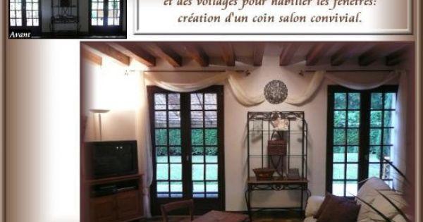 habillage de fen tre pour notre chambre rideaux pinterest maison valorisation. Black Bedroom Furniture Sets. Home Design Ideas