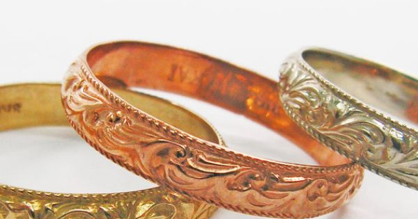 Moroccan gold floral design ring. Gold wedding by KaiJewelry585