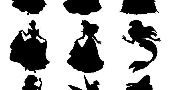 Disney Princess Silhouettes for tattoo idea
