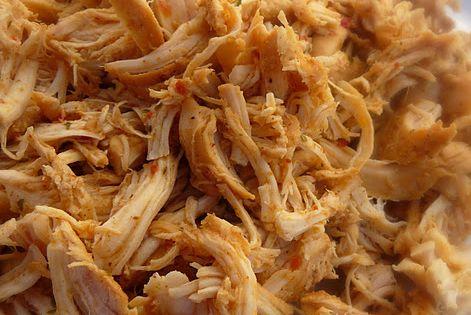 Cafe Rio Shredded Chicken Chicken (CrockPot) - 2lbs chicken breast, 1/2 small