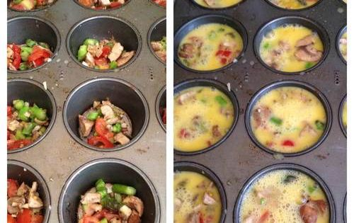 Easy breakfast meal prep! Brilliant muffin tin baked eggs! Great for on