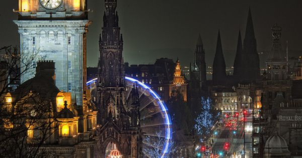 Night Lights, Edinburgh, Scotland. Dreaming of the day I get to see