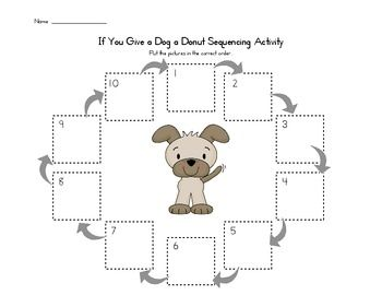 If You Give A Dog A Donut Sequence Activity Sequencing
