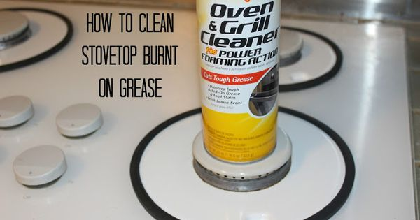 how to clean burnt electric stove top