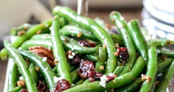 Green beans, Pecans and Cranberries on Pinterest