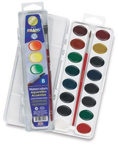 Prang Washable Watercolor Pan Sets Prang Watercolors Watercolor