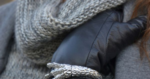 Michael Kors watch + gloves + winter wear fashion style