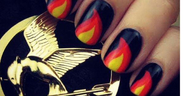 Hunger Games Nail Art That Has Us All Fired Up nailart hungergames