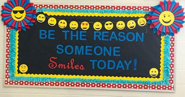 Classroom Door Decoration Ideas For Grade ~ Emoji encouraging smile bulletin board classroom diy